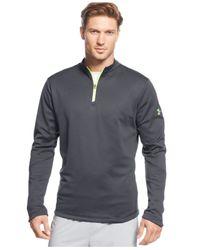 Under Armour Gray Coldgear Infrared Storm Quarter-Zip Shirt for men