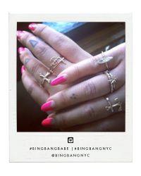Bing Bang   Pink Peace Stacking Ring   Lyst