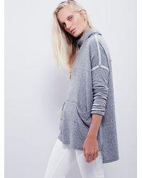 Free People - Gray Long Flight Pullover - Lyst