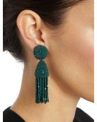 Oscar de la Renta | Green Short Classic Tassel Earring | Lyst