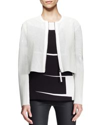 Helmut Lang White Sift Perforated Crop Jacket