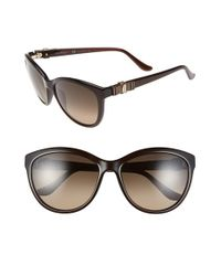 Ferragamo - Brown 'vara' 57mm Sunglasses - Lyst