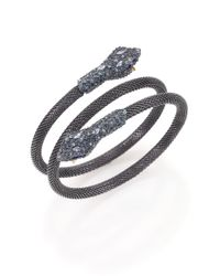 Alexis Bittar | Metallic Elements Dark Alchemy Crystal Serpent Wrap Bracelet | Lyst