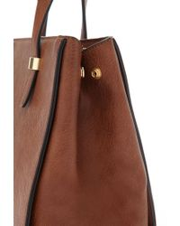 Forever 21 - Brown Pebbled Faux Leather Satchel - Lyst