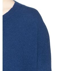 Diane von Furstenberg Blue 'essex' High-low Cashmere Sweater