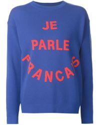 Être Cécile | Blue 'je Parle Francais' Sweatshirt | Lyst
