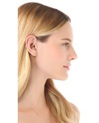 Ginette NY Green Gold Strip Stud Earrings