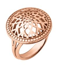 Links of London | Pink Timeless Domed Ring | Lyst