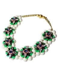 Shourouk | Narcis Xl Green Necklace | Lyst