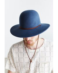 Brixton Blue Tiller Fedora for men