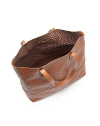 J.Crew - Brown Downing Tote in Perforated Leather - Lyst