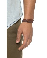 Caputo & Co. | Brown Hand Knotted Double Wrap Bracelet for Men | Lyst