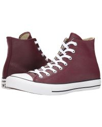 Converse | Purple Chuck Taylor® All Star® Seasonal Leather Hi | Lyst