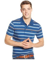 Tommy Hilfiger | Blue Striped Polo Shirt for Men | Lyst