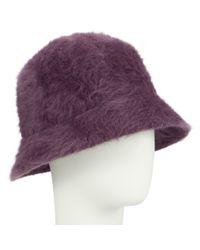 John Lewis Purple Angora Mix Cloche Hat