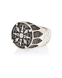 River Island | Metallic Silver Tone Fraternity Style Ring for Men | Lyst