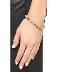 Michael Kors Metallic Park Avenue Rounded Bracelet