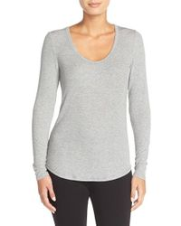Midnight By Carole Hochman | Gray Ribbed Top | Lyst