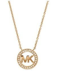Michael Kors | Metallic Mkj4732710 Ladies Logo Pendant Necklace | Lyst