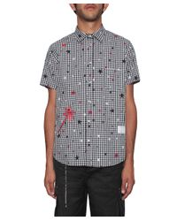 Saucony - Black Checked Cotton Shirt With Stars for Men - Lyst