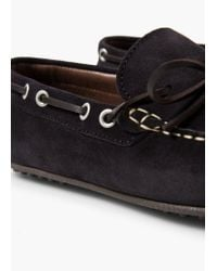 Mango - Blue Fringed Suede Shoes for Men - Lyst