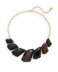 Cara Couture | Black Geometric Stone Collar Necklace/goldtone | Lyst