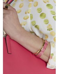 COACH - Pink Fuchsia Gold Plated Bangle - Lyst