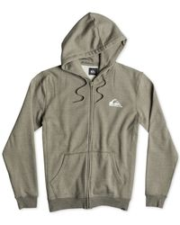 Quiksilver | Green Everyday Heather Full-zip Fleece Hoodie for Men | Lyst
