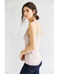 Truly Madly Deeply Gray Double Voop Tank Top