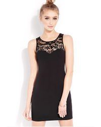 Forever 21 | Black Sweet Side Bodycon Dress | Lyst