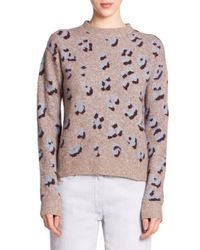 3.1 Phillip Lim - Brown Animal-print Sweater - Lyst