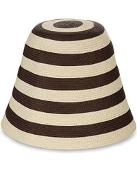 'S Max Mara Brown Striped Straw Bell Hat - For Women