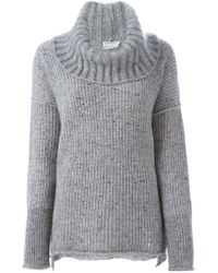 Sonia Rykiel - Gray Chunky Knit Turtle Neck Sweater - Lyst