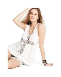 Denim & Supply Ralph Lauren - White Graphic Slouchy Tank - Lyst