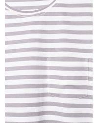 Mango Gray Striped T-Shirt for men