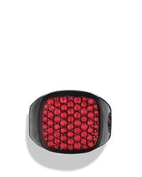 David Yurman | Red Pave Signet Ring with Rubies | Lyst