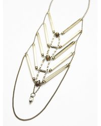 Free People - Green Womens Gold Coast Necklace - Lyst