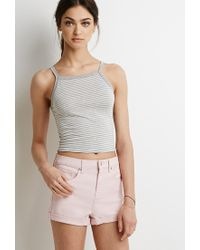 Forever 21 Pink Cuffed Denim Shorts