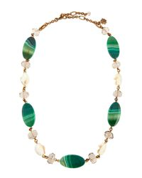 Stephen Dweck | Chunky Green Agate & Quartz Necklace | Lyst