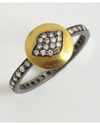 Amrapali | Metallic Lotus Collection Channel Diamond Ring | Lyst