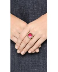 Oscar de la Renta | Purple Framed Crystal Ring | Lyst