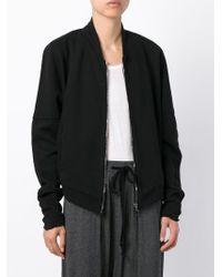 Lost & Found - Black Cotton Bomber Jacket - Lyst