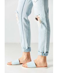 Urban Outfitters - Blue Charlie Leather Slide - Lyst