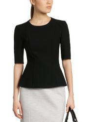 BOSS Black Top In Fabric Blend With Viscose: 'ipila'