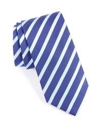 Eton of Sweden Blue Stripe & Silk Tie for men