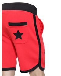 Hydrogen - Red Hockey Cotton Jogging Shorts W/ Patches for Men - Lyst