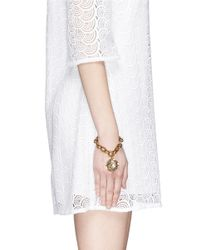 Lulu Frost | Multicolor 'audrey' Glitter Dome Charm Bracelet | Lyst
