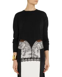 N°21 Black Wool and Lace Sweater