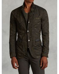 John Varvatos | Green Nylon Camo Jacket for Men | Lyst