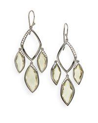 Ippolita - Metallic Citrine & Diamond Chandelier Earrings - Lyst